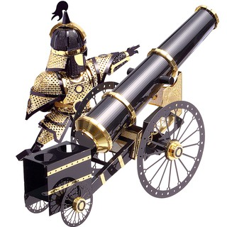 Mô Hình Kim Loại Lắp Ráp 3D Piececool Binh Sĩ & Súng Thần Công Artilleryman Style-P080-KG