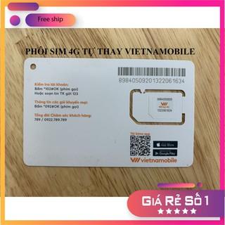 Sim trắng 4G Vietnamobile [FREESHIP] tự thay tại nhà