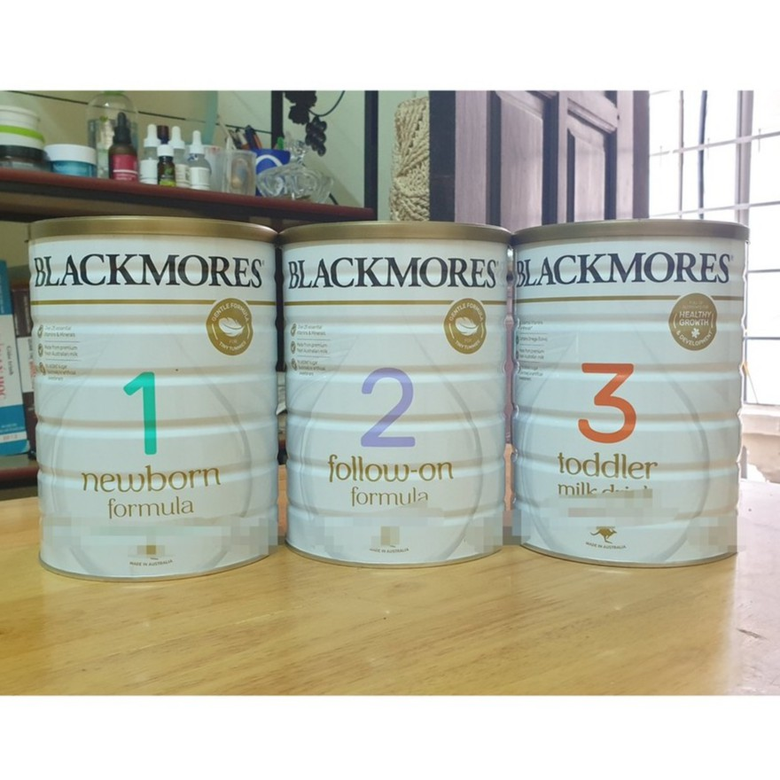 Sữa Blackmores số 1,2,3 mẫu mới 2019 - 900 Gram