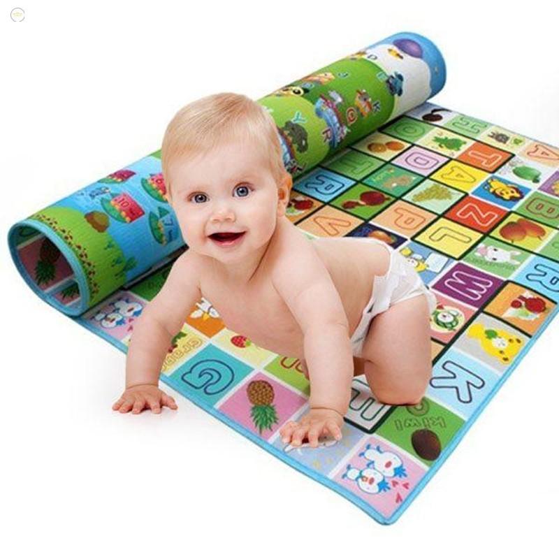 [ĐẶC BIỆT]Thảm chơi 2 mặt cho bé Maboshi size 1,6mx2m an toàn cho bé vui chơi