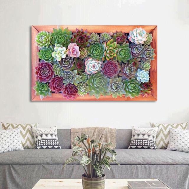 Tranh canvas sen đá 100cm x 60 cm ( khung sexy ) SR78