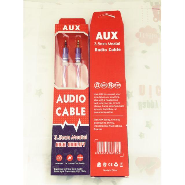Cáp âm thanh 2 đầu 3.5mm AUX