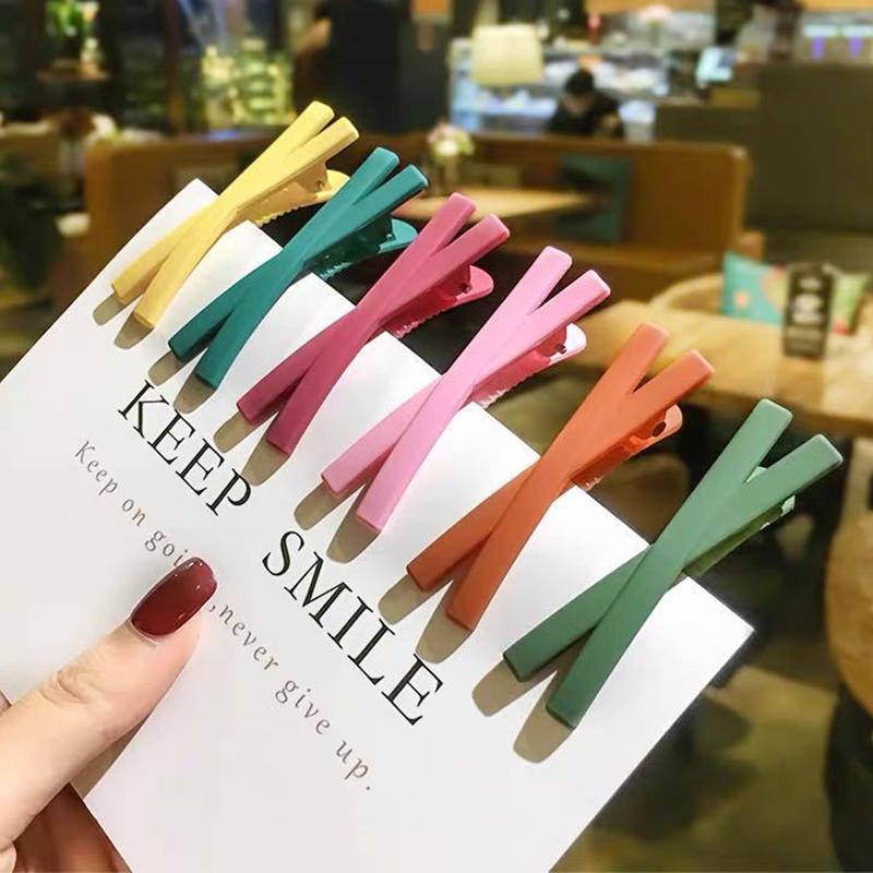 Kẹp tóc họa tiết đơn giản thời trang Hàn Quốc cho nữ