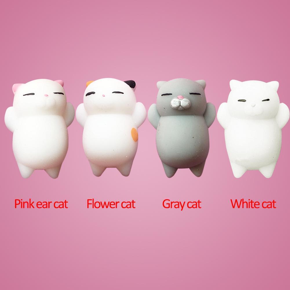 Squishy 3D Sleeping Stickers Sleepy Cat Bear Cellphone Decoration Lovely Toys