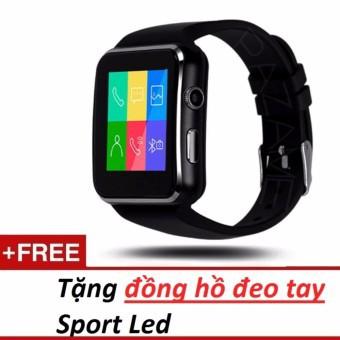 Đồng hồ thông minh X6 màn hình cong Cao cấp (đen) tặng đồng hồ sport led - 3590399 , 1047957194 , 322_1047957194 , 350000 , Dong-ho-thong-minh-X6-man-hinh-cong-Cao-cap-den-tang-dong-ho-sport-led-322_1047957194 , shopee.vn , Đồng hồ thông minh X6 màn hình cong Cao cấp (đen) tặng đồng hồ sport led