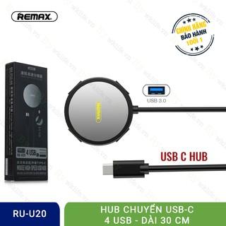 [Mã ELFLASH5 giảm 20K đơn 50K] Hub Chuyển USB Type C Ra USB 3.0 Remax Hàng Xịn Bảo Hành 1 Đổi 1