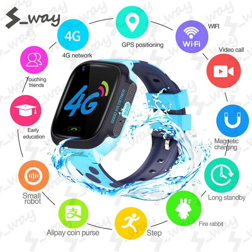 Đồng hồ định vị Y92 Chống Nước IP67, GPS định vị WIFI, Đồng Hồ Thông Minh Gọi SOS