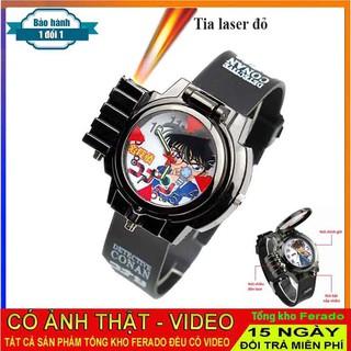 [Mã FASHIONRNK giảm 10K đơn 50K] Đồng Hồ đeo tay bé trai Conan có tia laser thumbnail