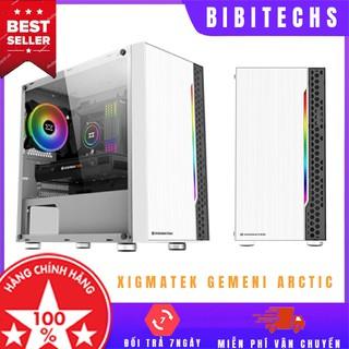 [Chính hãng] Vỏ case xigmatek Gemini Arctic Freeship case máy tính Mid tower, kèm dải led RGB - BiBiTechs thumbnail