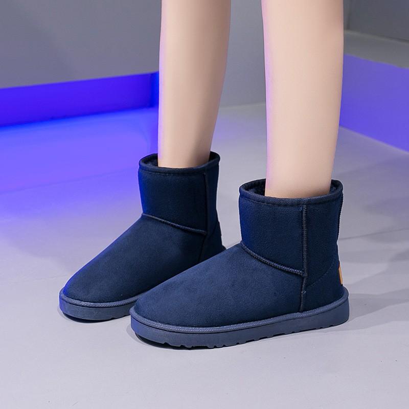 Giày Cotton Đế Bằng Chống Trượt Đơn Giản