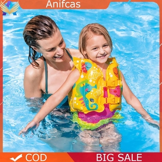 Anifcas Summer Kids Safety Swimming Buoyancy Vest Baby Beach Float Aid Life Jacket