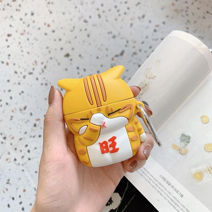 Case Vỏ Bao Airpods Đựng Tai Nghe Airpod 1 2 Pro Tiểu Hổ Ngáo Ngơ Siêu Dễ Thương Silicone Cao Cấp - Chin Chin Shop