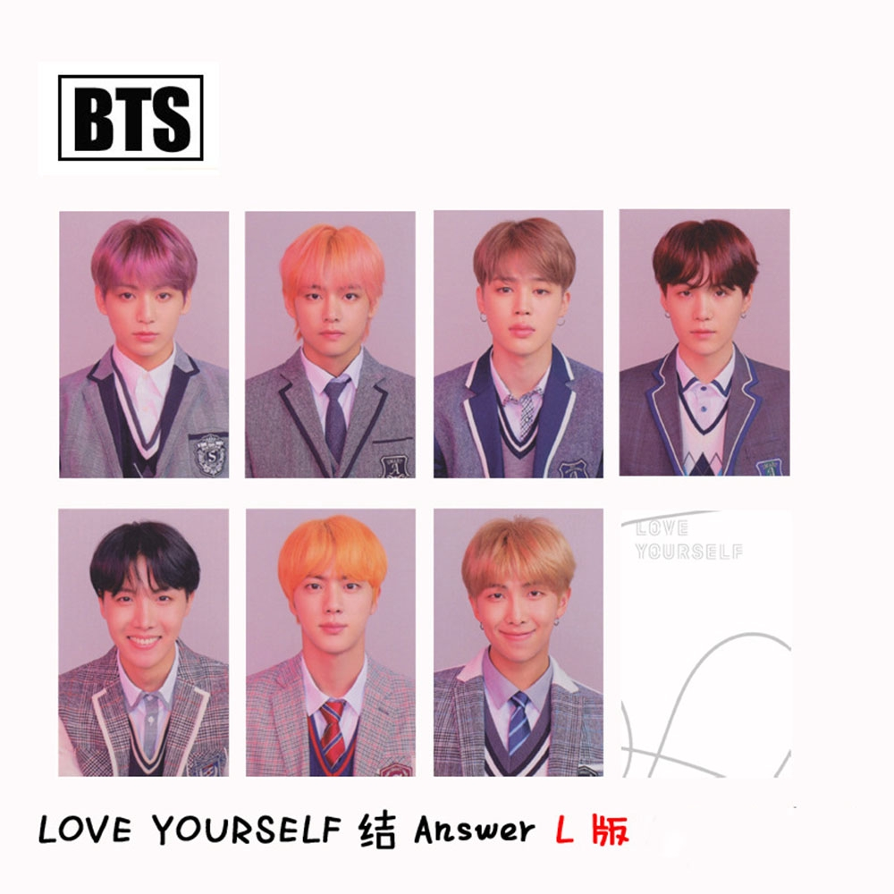 7 Pcs/set Autograph Army Fans K-pop Fashion Answer Paper BTS Lomo Card