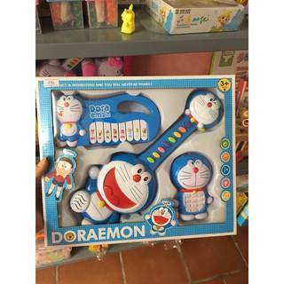 Bộ đàn và điện thoại phát nhạc Doraemon cho bé yêu