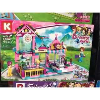 Lắp ráp xếp hình Lego Friends 52007 : Quán bar của Susan 424 chi tiết cho bé