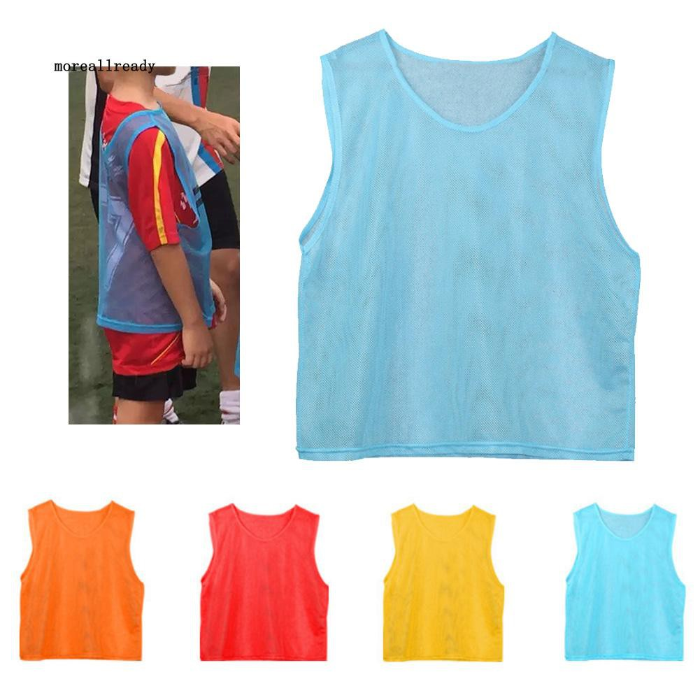 was Children Adults Breathable Football Basketball Sports Training Vest Mesh Jersey