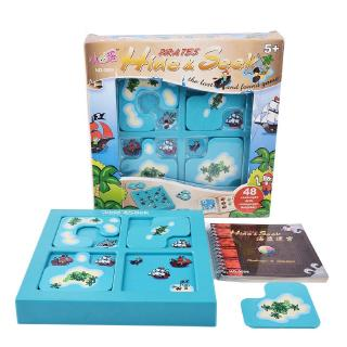 Smart Games Pirates Hide&Seek IQ Board Games 48 Challenge With Solution Book IQ Toys For Children Party Games Family Toy