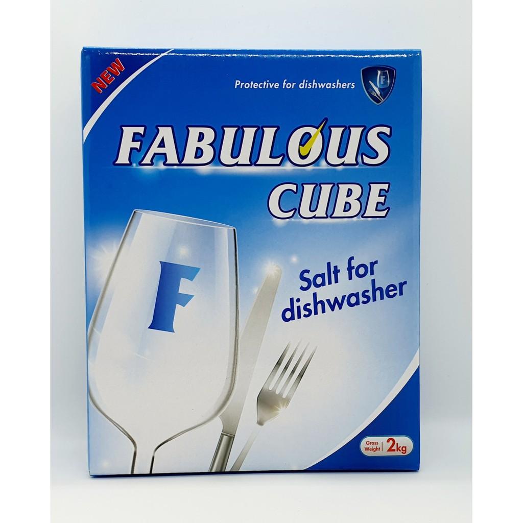 Muối rửa bát 2kg Fabulous- Ixrael. Dùng cho máy rửa chén, bát.