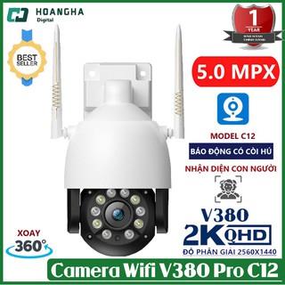 Camera V380Pro PTZ siêu nét có màu ban đêm đàm thoại 2 chiều