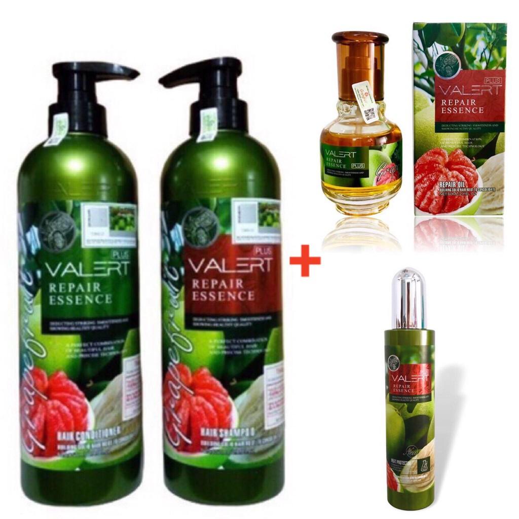 🌻COMBO🌻 dầu gội dầu xả tinh chất bưởi + tinh dầu + xịt dưỡng + hấp ủ bưởi kích thích mọc tóc - suôn mềm mƀh