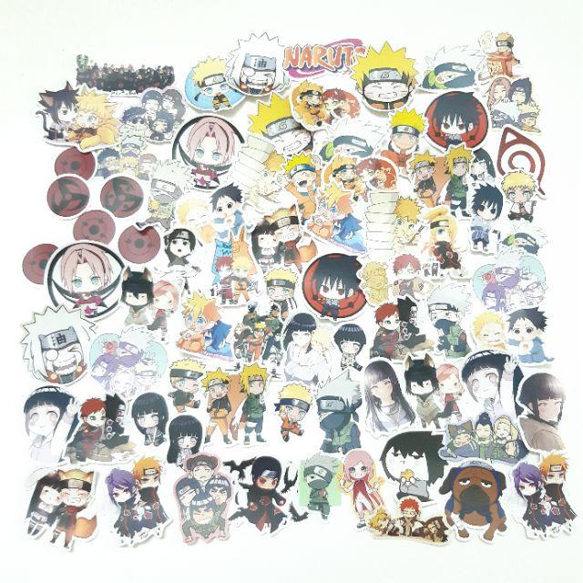 Sticker nhám cán mờ Naruto dán trang trí planer, scrapbook, điện thoại, laptop,...