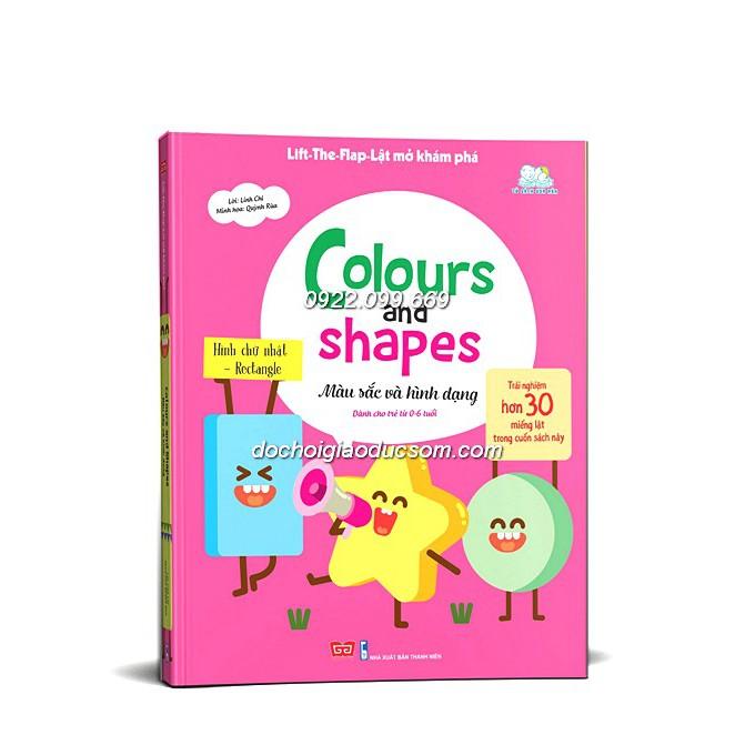Sách hình khối và màu sắc - lật dở tương tác - Lift the flap Color and Shape