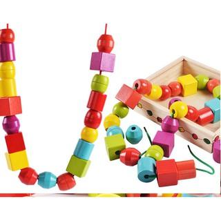 Giáo cụ Montessori Bộ sâu hạt to đồ chơi giáo dục