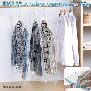[baishangsuper]Foldable Hanging Compression-Vacuum Bag Clothes Dust Cover Storage Sealed Pouch