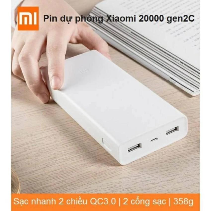 Pin dự phòng Xiaomi 20000 mAh Gen 2C - QC 3.0 sạc nhanh hai chiều - BH 6 tháng