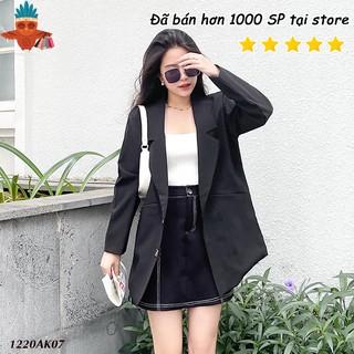Áo vest nữ blazer đen 2 lớp dáng dài có túi mổ THOCA HOUSE kiểu dáng basic trang trọng cho đi làm, đi tiệc thumbnail