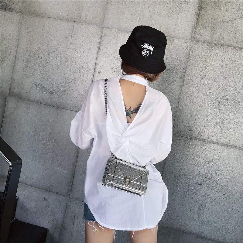 áo sơ mi hở lưng Quảng Châu order156