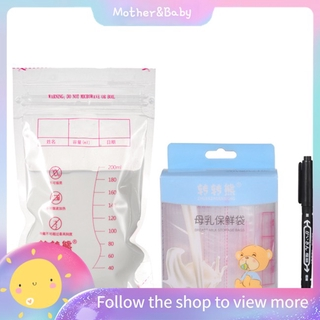 Set 10 Túi Đựng Bảo Quản Sữa Mẹ Dung Tích 200ml Tiện Dụng
