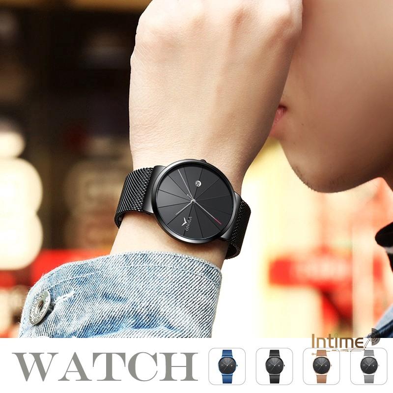 Onola Man's Quartz Analog Strap Metal Mesh watch