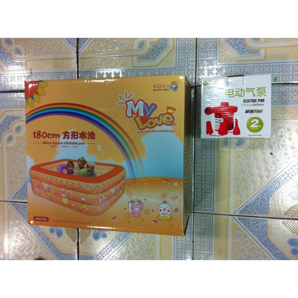 Combo Bể Summer 180x140x60(3 tầng) và 1 bơm điện hai chiều - 2631160 , 40188805 , 322_40188805 , 510000 , Combo-Be-Summer-180x140x603-tang-va-1-bom-dien-hai-chieu-322_40188805 , shopee.vn , Combo Bể Summer 180x140x60(3 tầng) và 1 bơm điện hai chiều