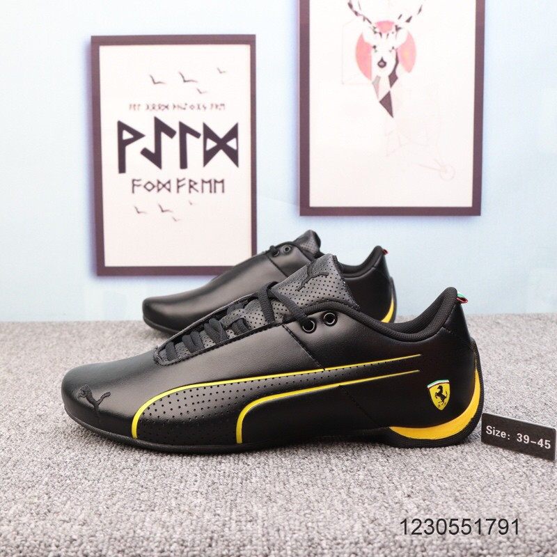 รองเท้ากีฬาต้นฉบับ Puma Ferrari Engine ของแท้รองเท้ารองเท้าผ้าใบแฟชั่นรองเท้าลำลอง