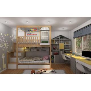 Thiết kế phòng ngủ cho trẻ em với giường tầng đa năng và thẩm mỹ – Nội thất Viethome