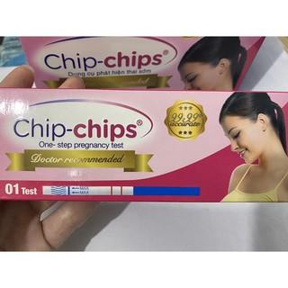 QUE THỬ THAI CHIP-CHIP (Ẩn tên hàng-Dụng cụ phát hiện thai sớm)