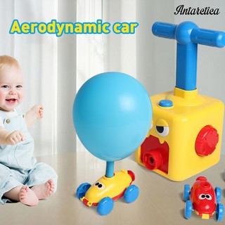Antarctica HOT Press-Powered Racing Car with Manual Balloon Pump Educational Toys Kids Gift