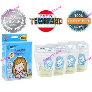 1-2 Hộp 30 túi trữ sữa mẹ 100ml không BPA Sunmum Thái Lan