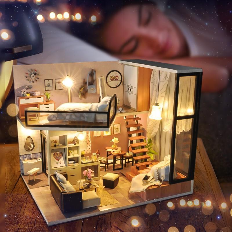 Hàng Mới Nhà búp bê Quiet loft and Life Dream TYU16D ( tặng kèm mica)