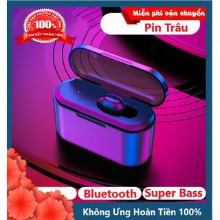 Siêu Hay - Tai Nghe Bluetooth Không Dây 5.0 T1 Phiên Bản Nâng Cấp Cho Âm Thanh Siêu Hay Có Dock Sạc Siêu Tiện