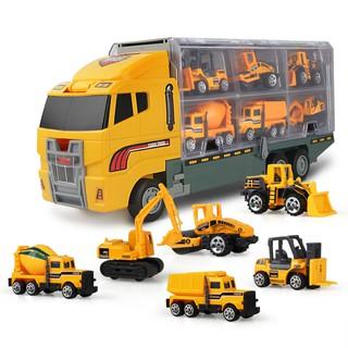 1 xe tải và 6 xe hơi mini cho bé trai