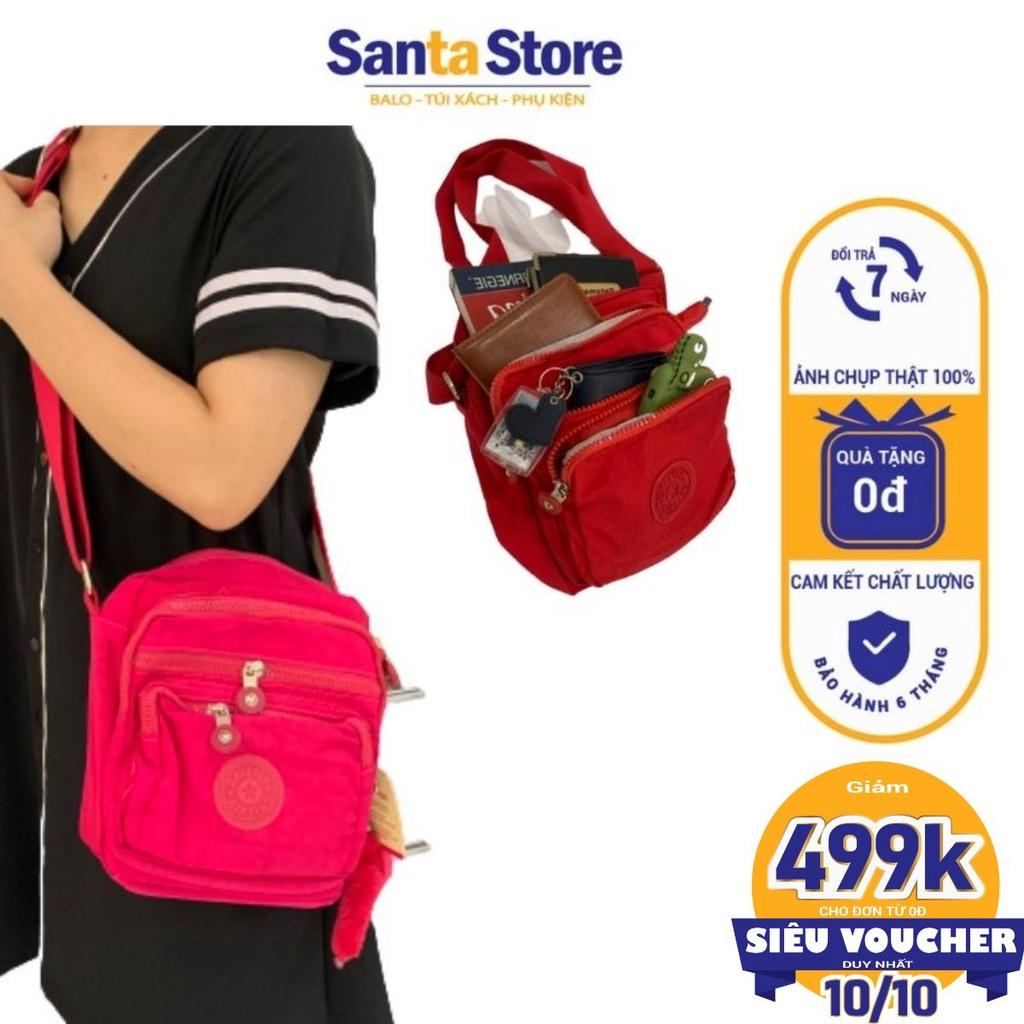 Túi vải dù đeo chéo nữ mini Kipling KL1804 đựng điện thoại ví tiền thời trang Hàn Quốc cao cấp nhiều ngăn SANTA STORE