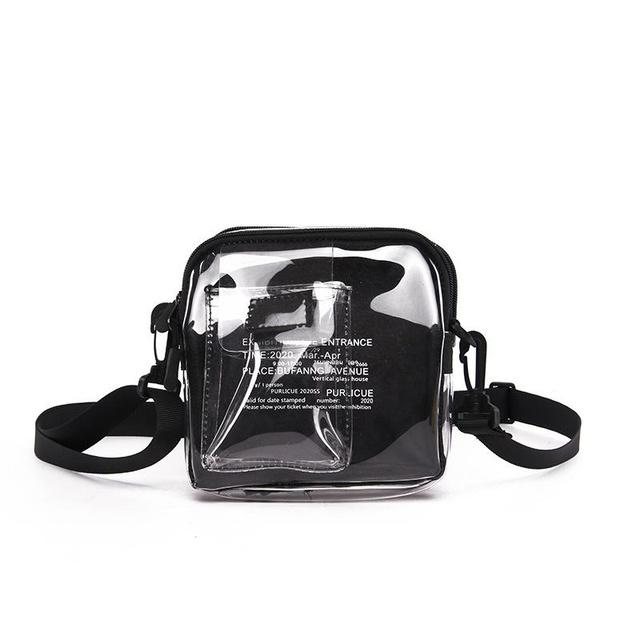 Túi Đeo Chéo Trong Suốt, Túi Unisex Phong Cách Trẻ D4141