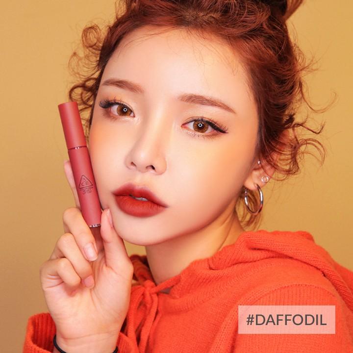 Son kem lì 3ce velvet lip tint #daffodil (hàng xách tay store có sẵn)