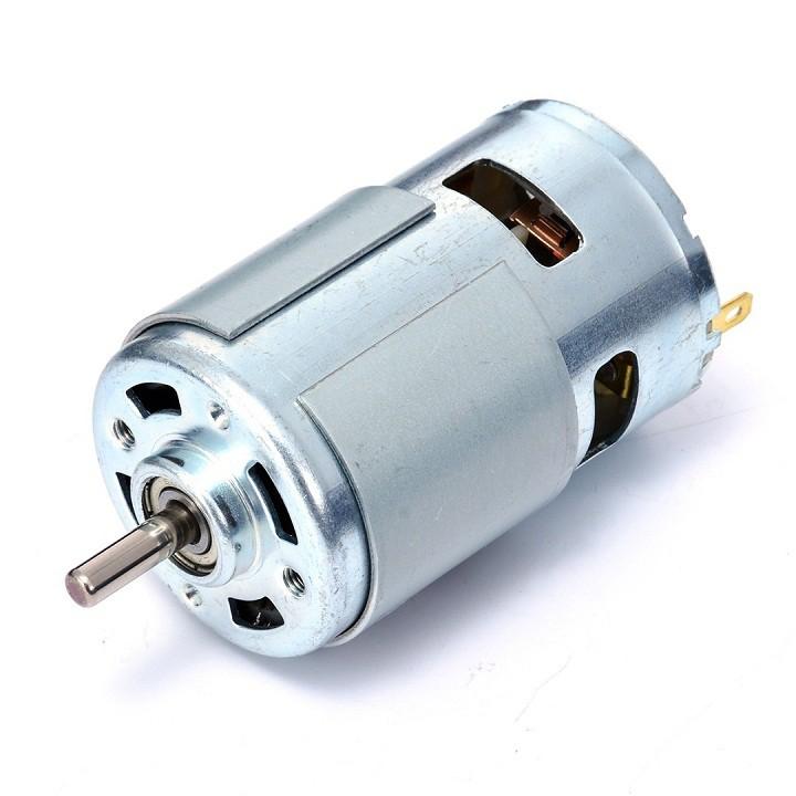Motor 775 đảm bảo đủ 150w, dây đồng, 12-24V, 16000 vòng/ph, có bạc đạn: Chế máy cưa, máy cắt..........
