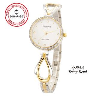 Đồng hồ nữ đính đá Sunrise 9939AA siêu mỏng kính Sapphire chống xước - Fullbox chính hãng