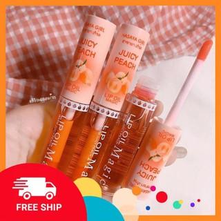 [FreeShip] Son dưỡng bõng môi quả đào màu hồng xinh xắn