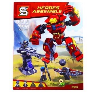 Bộ Lego Xếp Hình Ninjago Người Sắt Iron Man DLP2002. Gồm 420 Chi Tiết. Lego Ninjago Lắp Ráp Đồ Chơi Cho Bé. Lego Ninjago