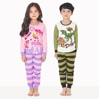 Đồ bộ dài mỏng cho bé trai, bé gái Unifriend Hàn Quốc UniT05, 100% cotton.